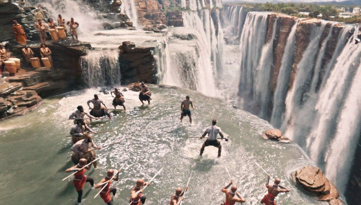 Warriors falls of Black Panther in the Marvel Cinematic Universe are Iguazu Falls
