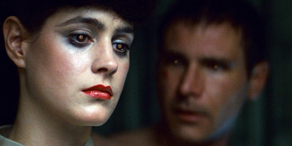 Still from Blade Runner with Sean Young and Harrison Ford