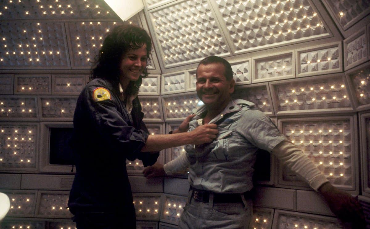 ian Holm during the filming of Alien the Passenger