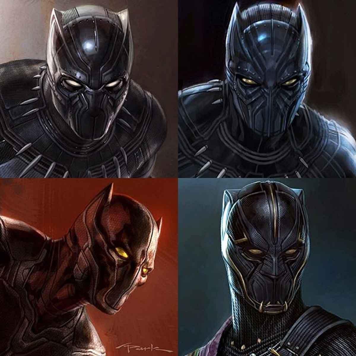 Marvel Studios shows off alternative Black Panther designs