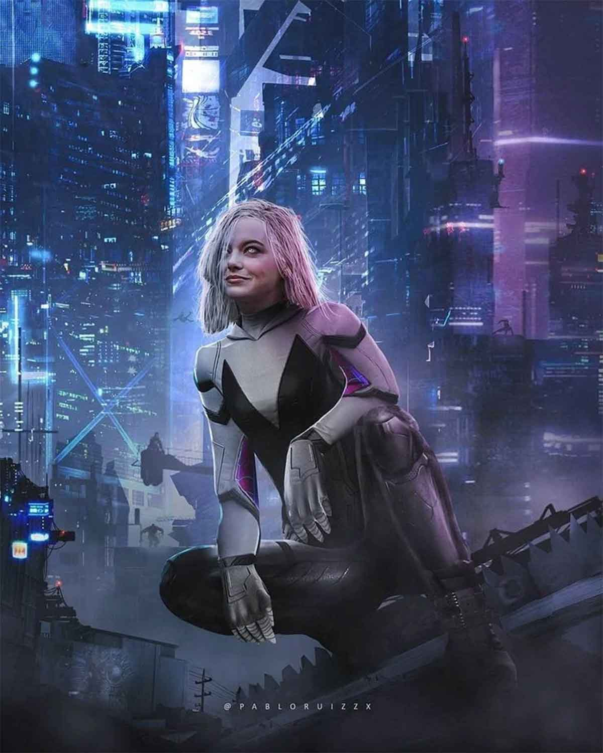 Spectacular Emma Stone Fan Art as Spider-Gwen