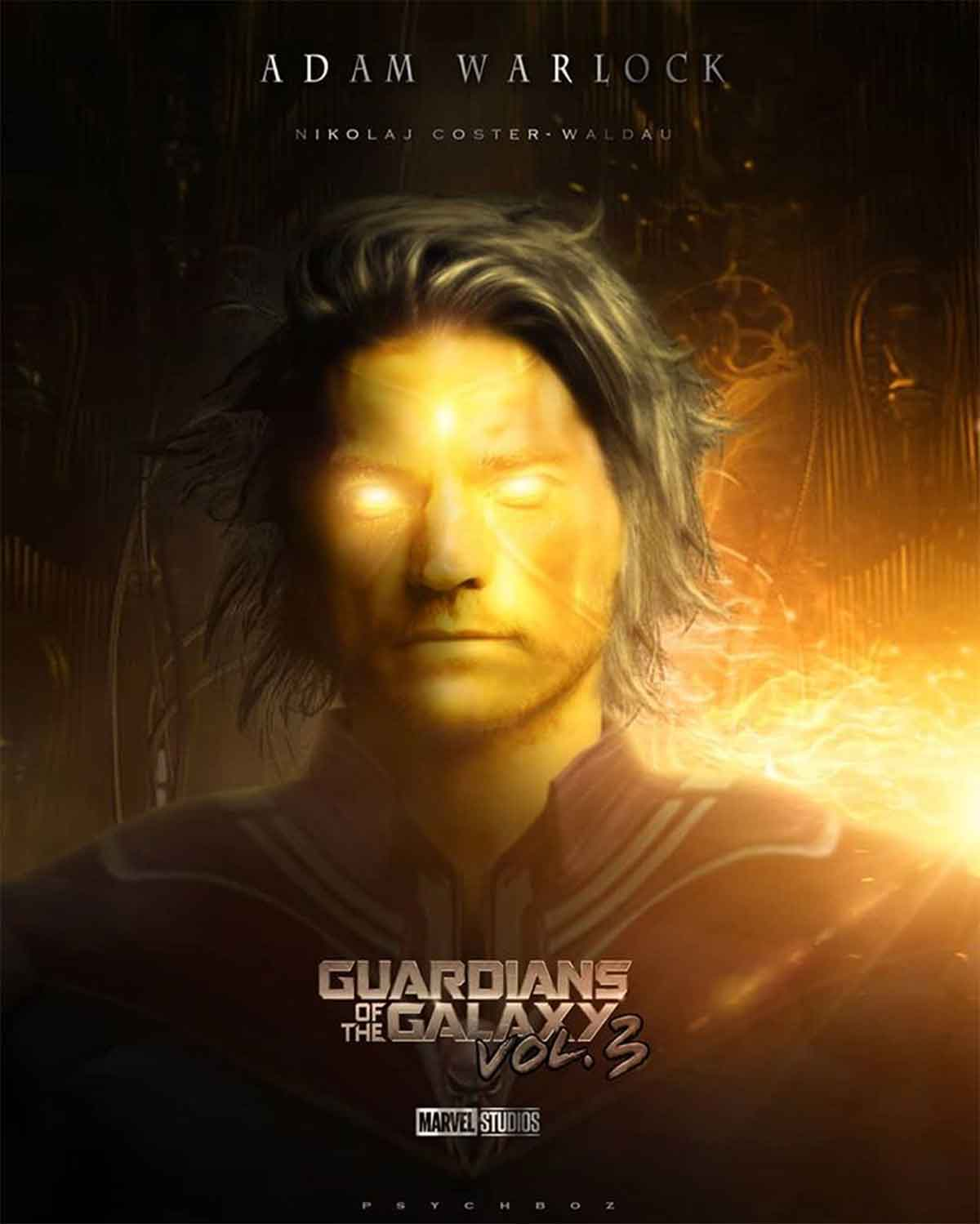 Spectacular Fan Art by Nikolaj Coster-Waldau as Adam Warlock