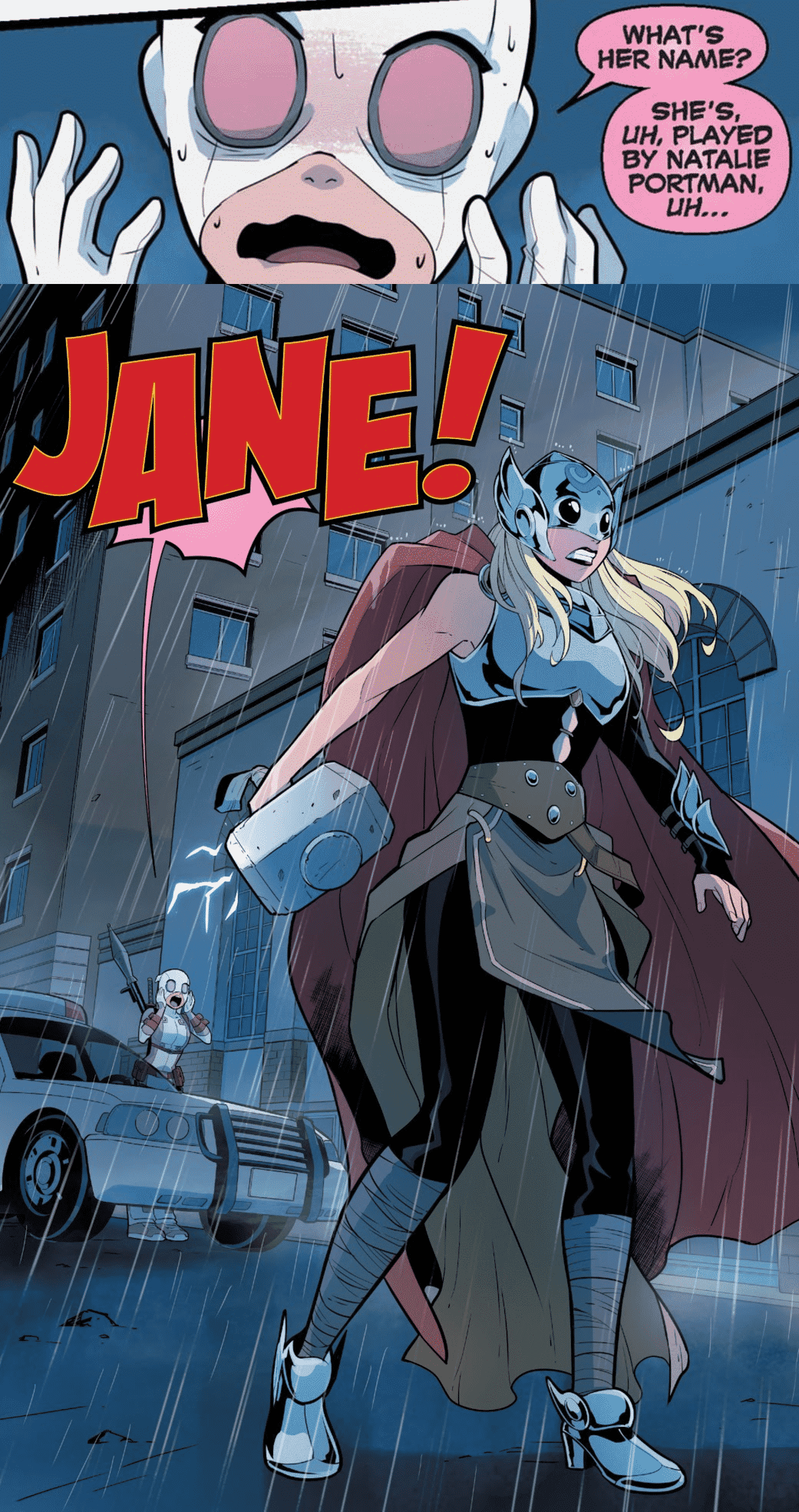 Jane Foster from Natalie Portman is already canon in the Marvel comics