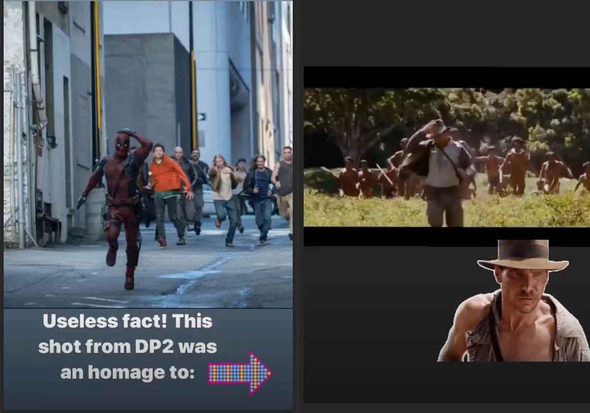Ryan Reynolds reveals Deadpool 2 tribute to Indiana Jones