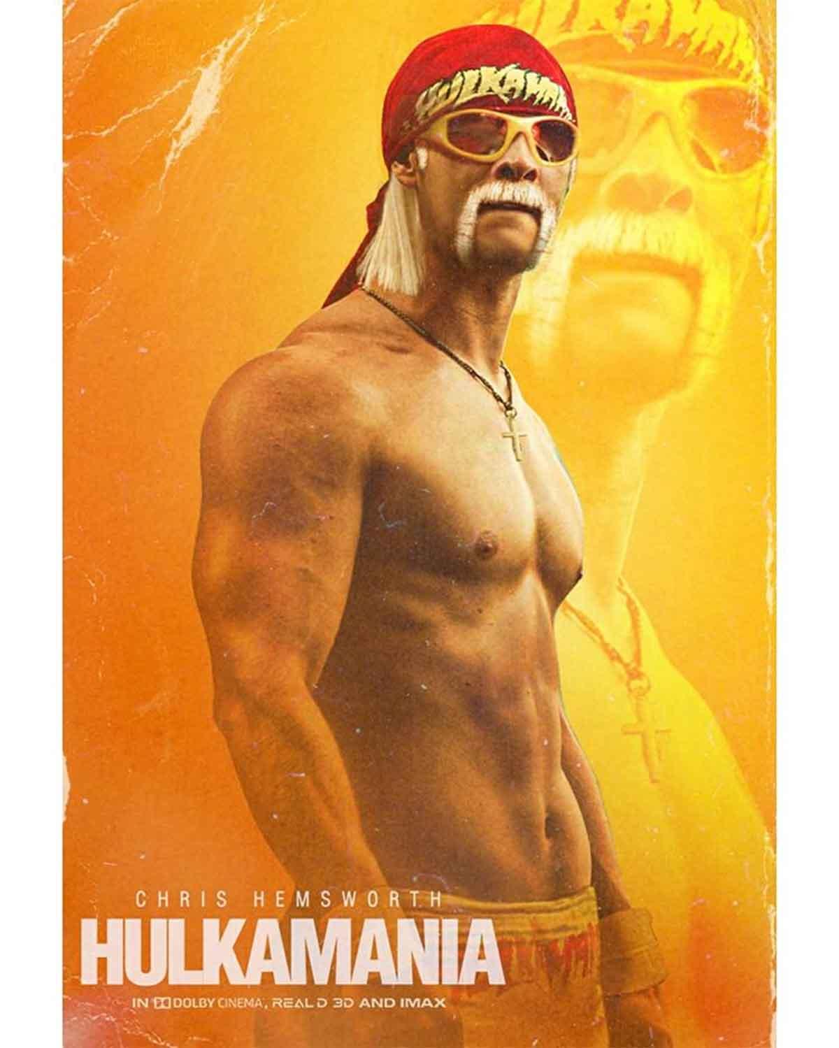 Spectacular Fan Art by Chris Hemsworth as Hulk Hogan