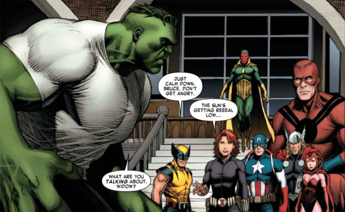 Black Widow's trick doesn't work on the Hulk from the comics