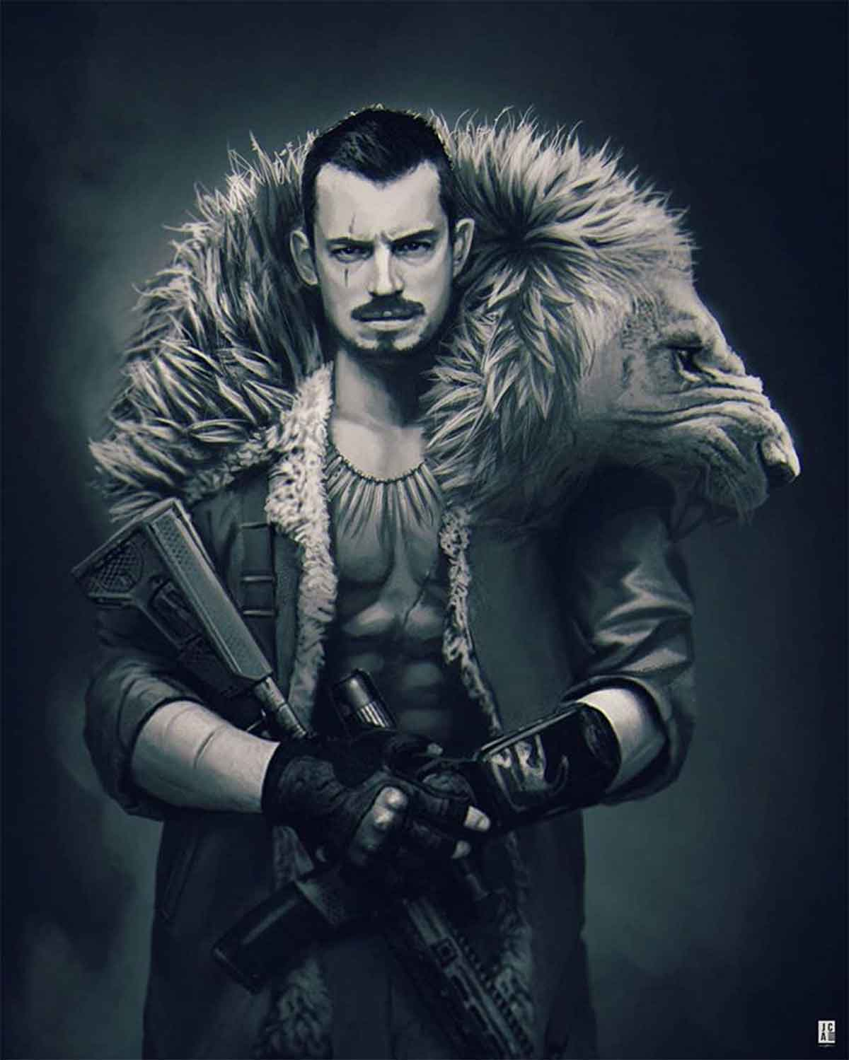 Spectacular Fan Art of Joel Kinnaman as Kraven the Hunter
