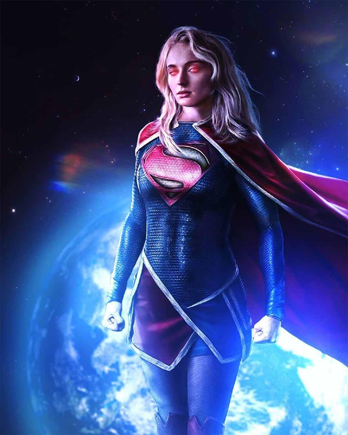 Fan Art of Sophie Turner as Supergirl