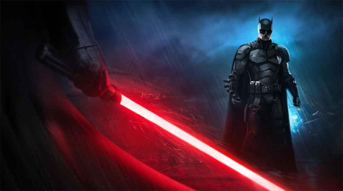 Spectacular Fan Art of Darth Vader facing Batman by Robert Pattinson