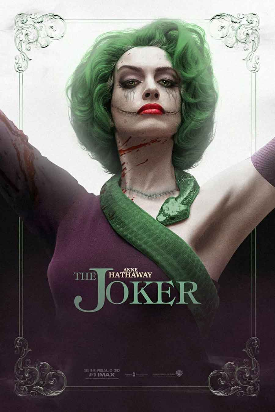 This is what Anne Hathaway would look like as the JOKER